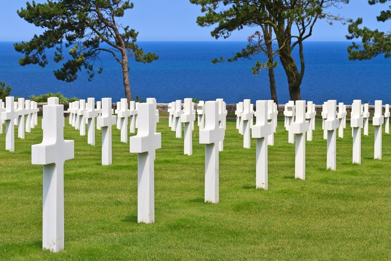 American War Cemetery near Omaha Beach, Normandy