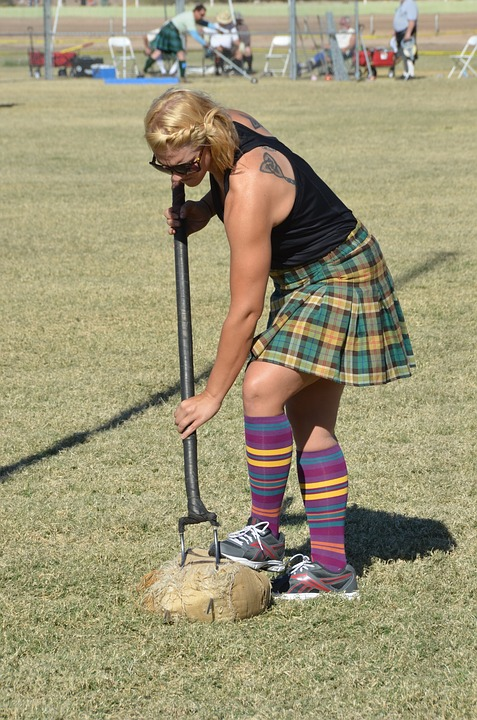 Woman at Highland Games