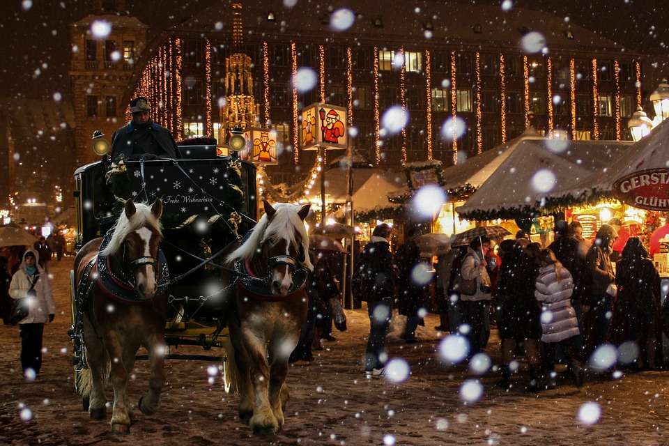 Christmas Market in snow