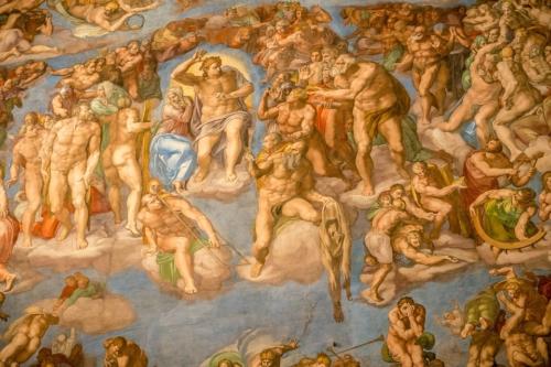 Fresco on ceiling of Sistine Chapel